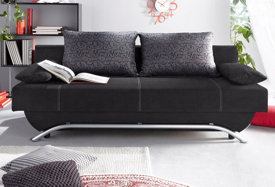 schlafsofa wahlweise mit federkern und matratzenauflage. Black Bedroom Furniture Sets. Home Design Ideas