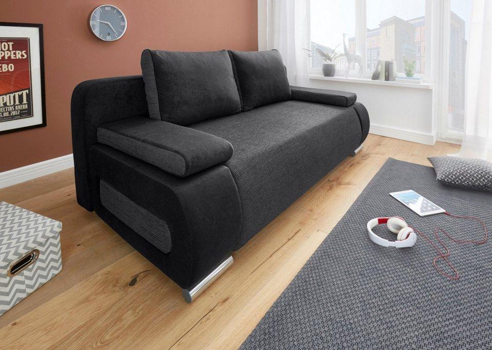 schlafsofa mit bettkasten wei. Black Bedroom Furniture Sets. Home Design Ideas