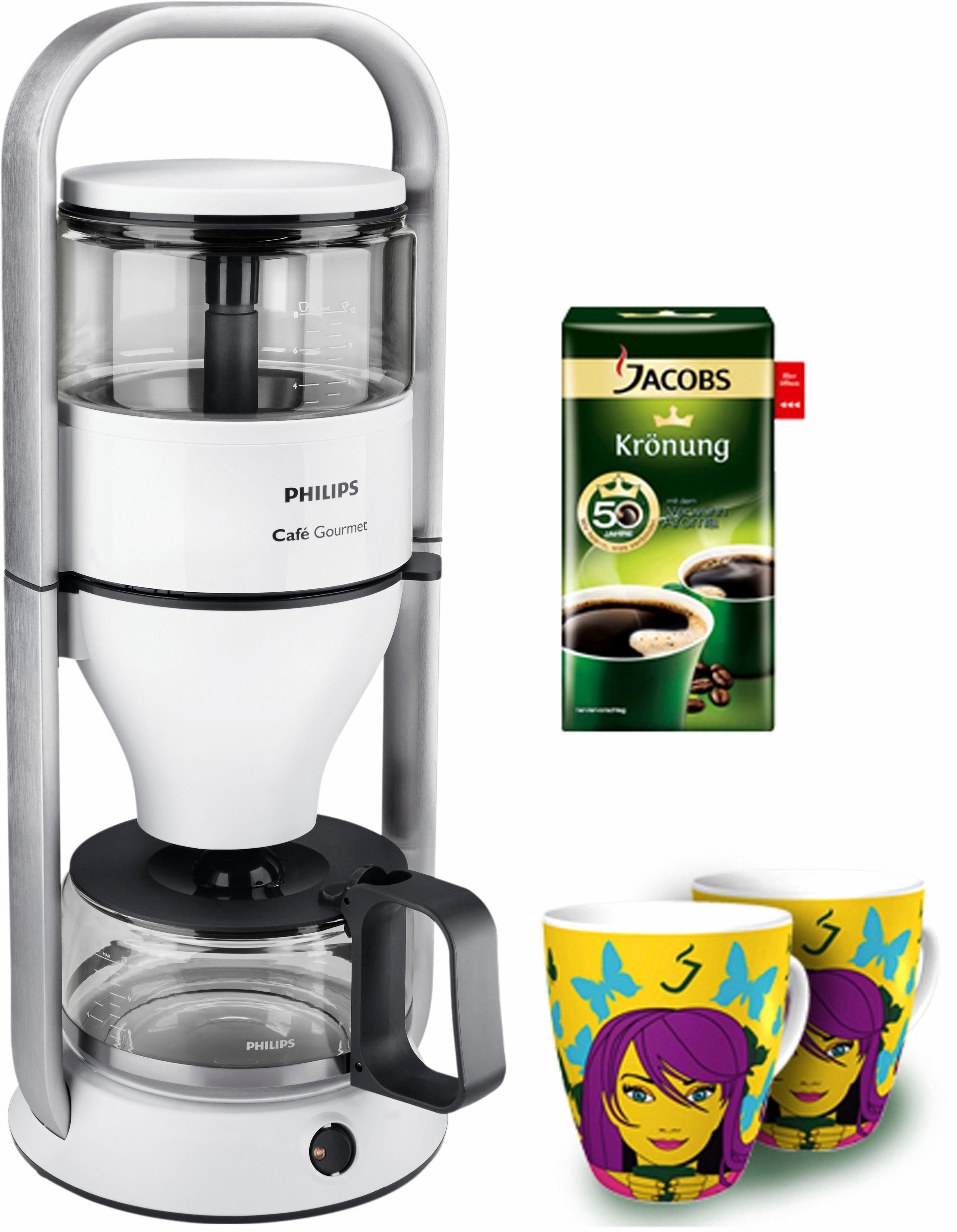 Philips Kaffeemaschine HD5407/10 New Café Gourmet, Gratis 2 Ritzenhoff Becher und 250gr. Jacobs Krönung Kaffee bei Onlineregistrierung