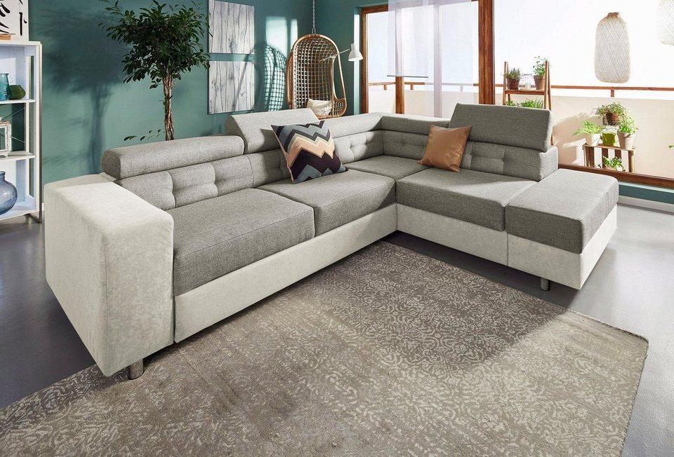 polsterecke wahlweise mit bettfunktion und bettkasten online kaufen otto. Black Bedroom Furniture Sets. Home Design Ideas