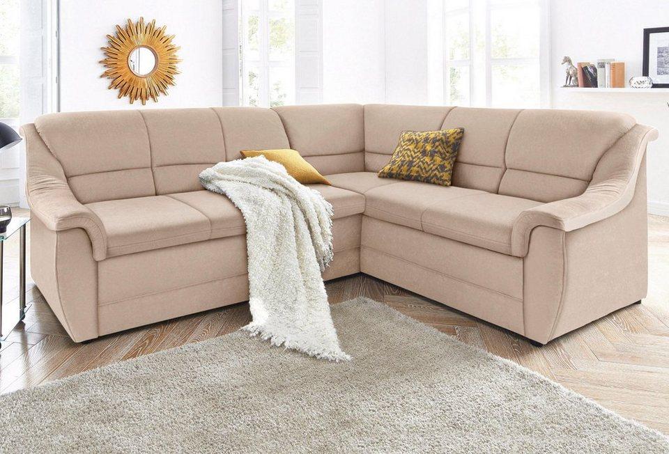 polsterecke mit langem schenkel wahlweise mit bettfunktion online kaufen otto. Black Bedroom Furniture Sets. Home Design Ideas