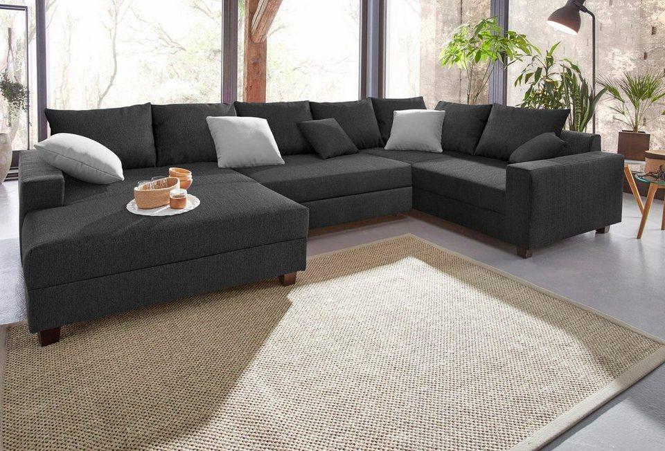 trendmanufaktur wohnlandschaft mit bettfunktion und xl recamiere online kaufen otto. Black Bedroom Furniture Sets. Home Design Ideas