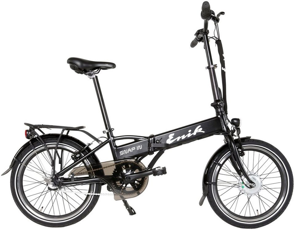 enik e bike klapprad snap in 20 20 zoll 3 gang frontmotor 317 wh online kaufen otto. Black Bedroom Furniture Sets. Home Design Ideas