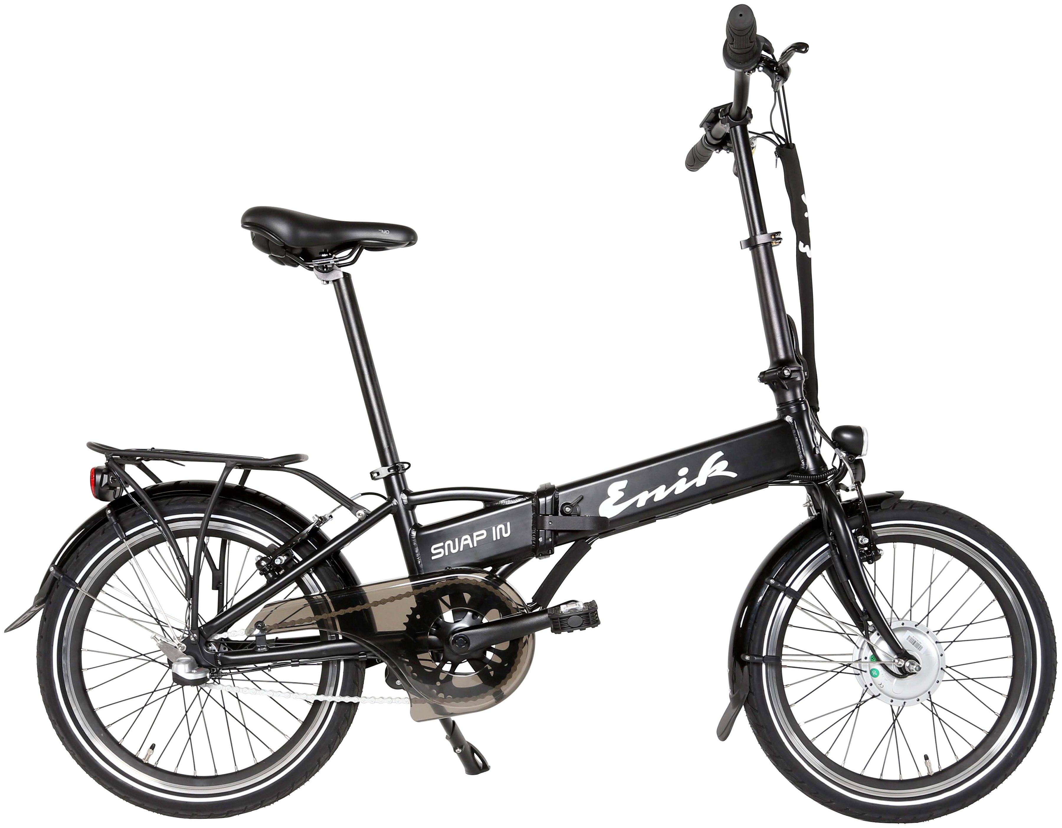 ENIK E-Bike Klapprad »SNAP-IN 20«, 20 Zoll, 3 Gang, Frontmotor, 317 Wh