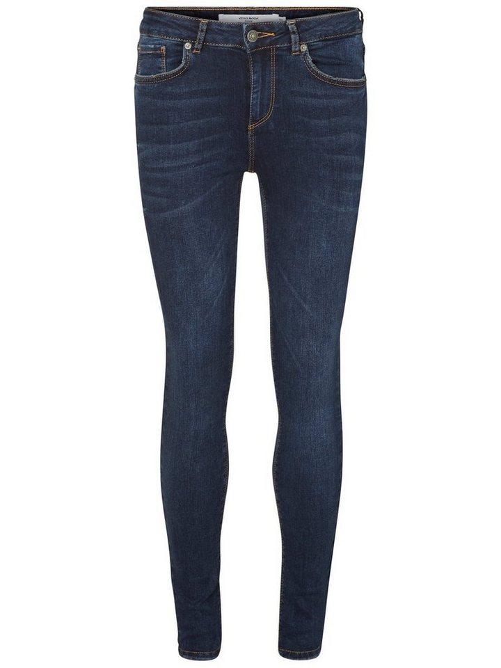 Vero Moda Lux NW Skinny Fit Jeans in Dark Blue Denim