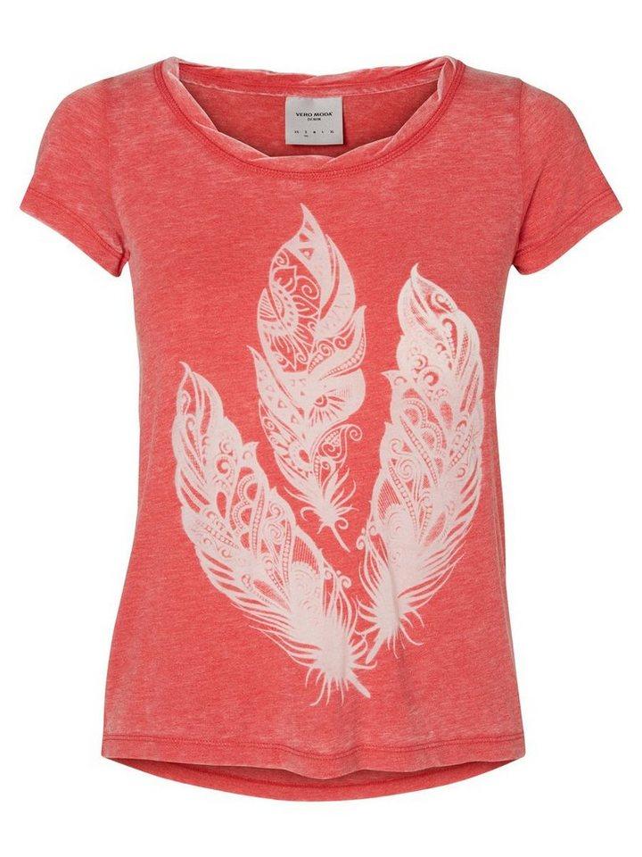 Vero Moda T-Shirt in Scarlet