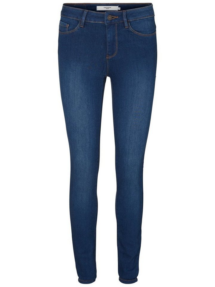Vero Moda Seven NW Skinny Fit Jeans in Dark Blue Denim
