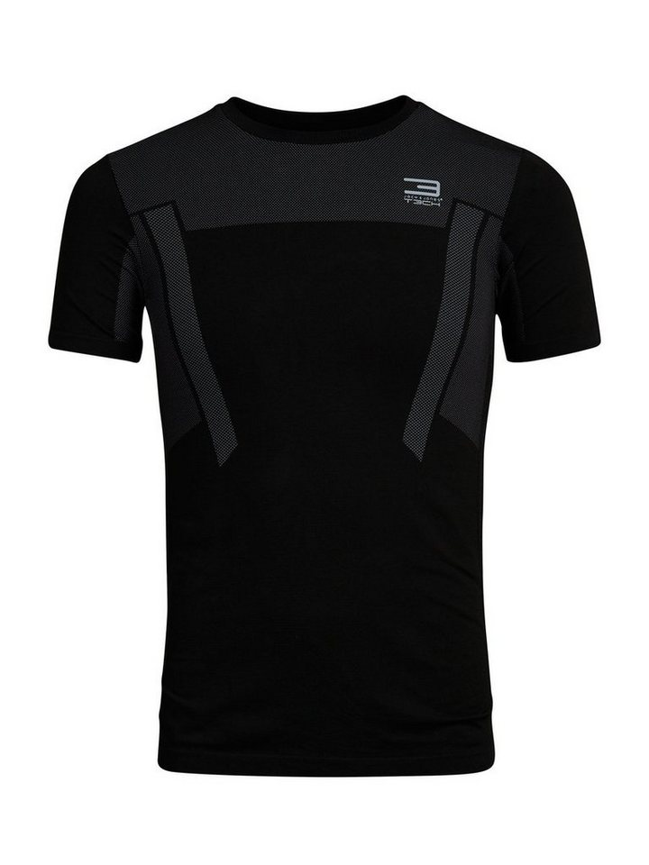 Jack & Jones Tech Nahtloses T-Shirt in Black