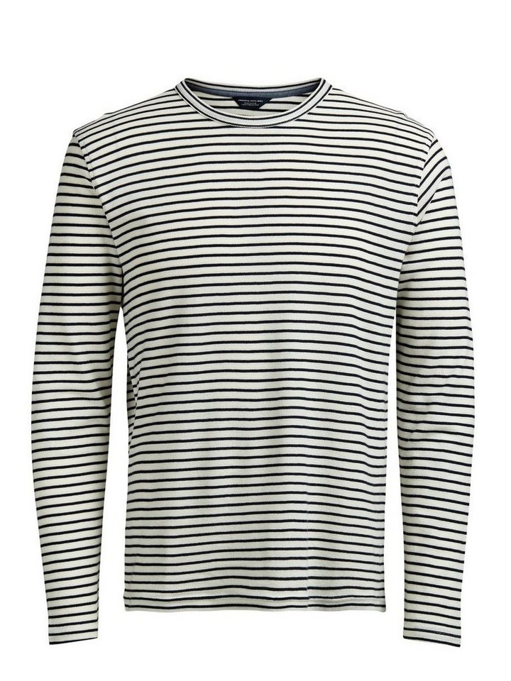 Jack & Jones Gestreiftes Sweatshirt in WHISPER WHITE.