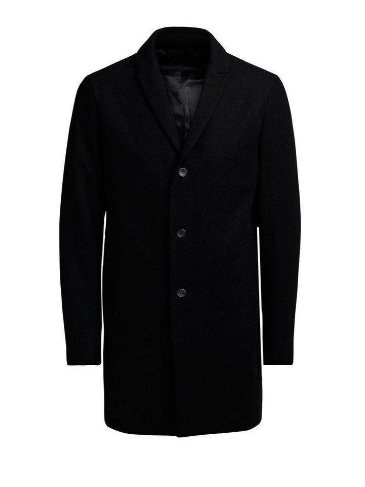 Jack & Jones Wollmischfaser- Mantel in Black