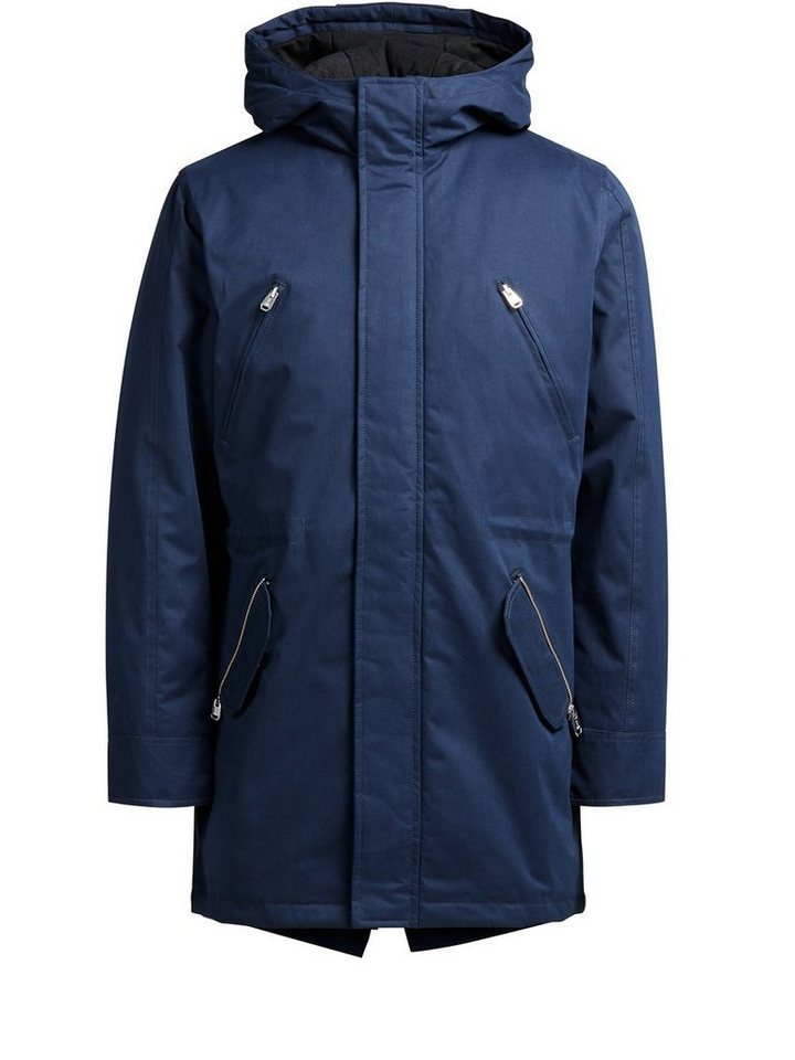 Jack & Jones Warmer Parka in Navy Blazer