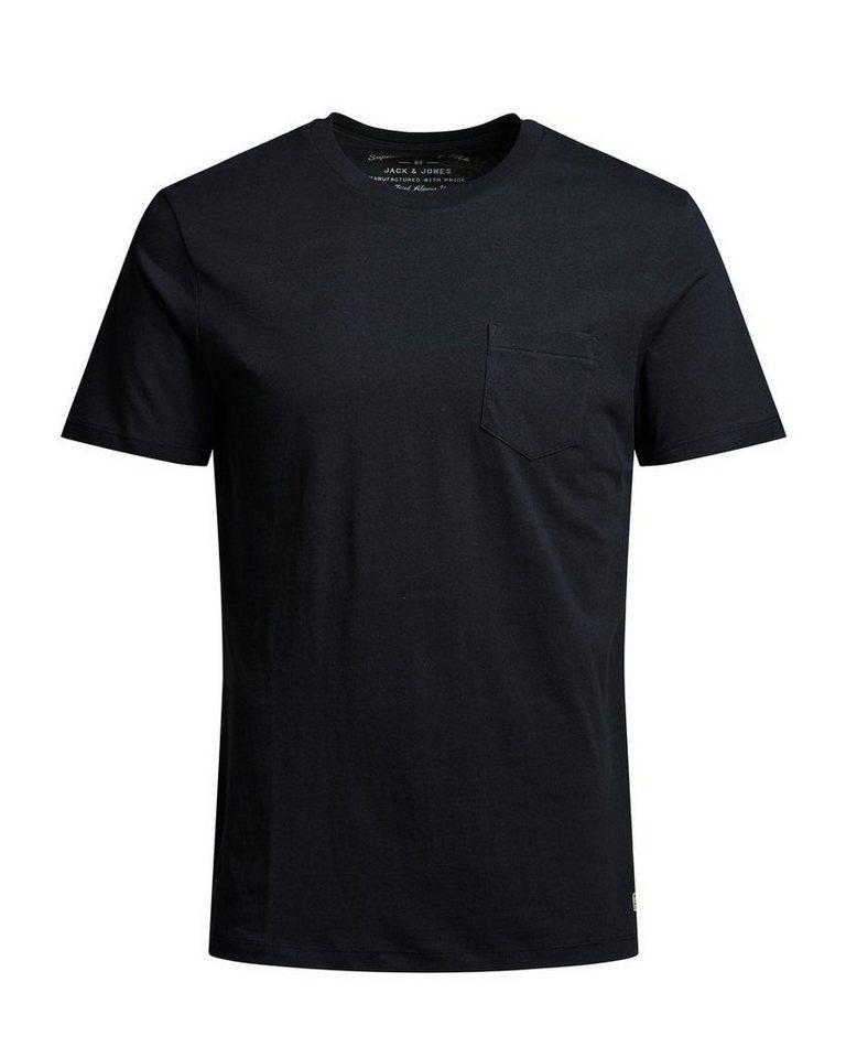 Jack & Jones Einzelne Brusttasche T-Shirt in Caviar