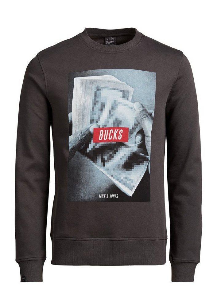 Jack & Jones Bedrucktes Sweatshirt in RAVEN