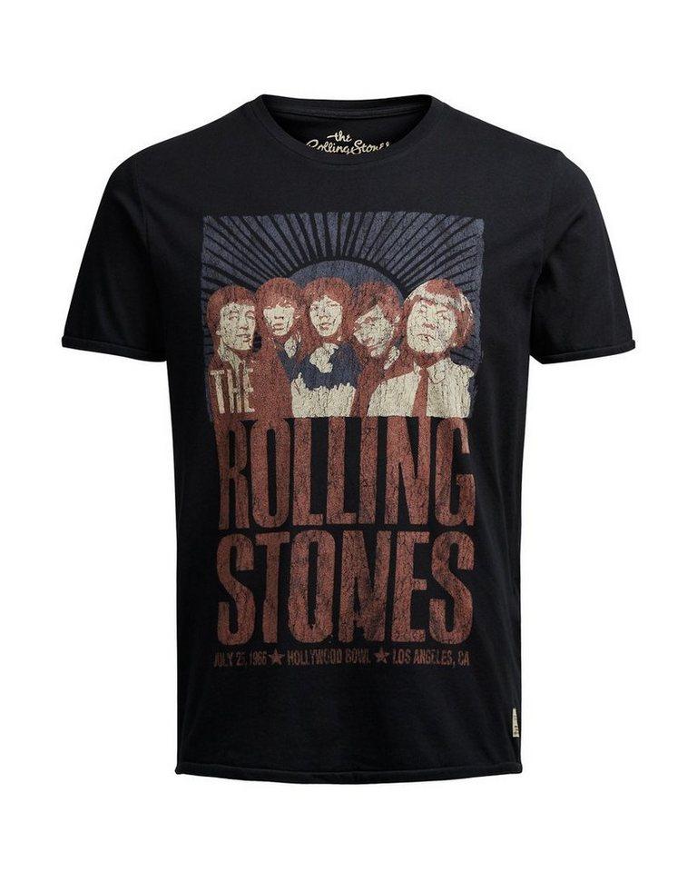 Jack & Jones Rolling Stones T-Shirt in Caviar
