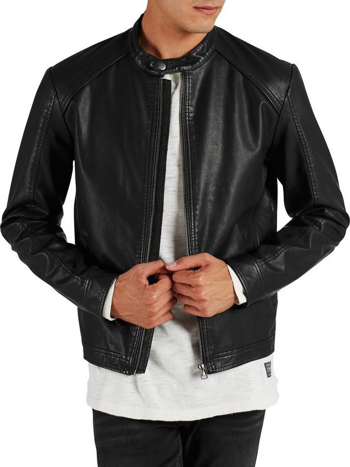 Jack & Jones Biker- Leichte Jacke in Black