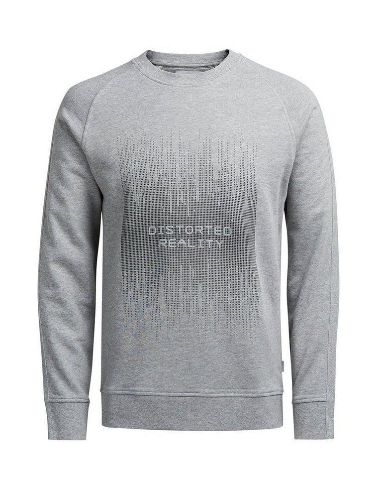 Jack & Jones Grafik- Sweatshirt in LIGHT GREY MELANGE