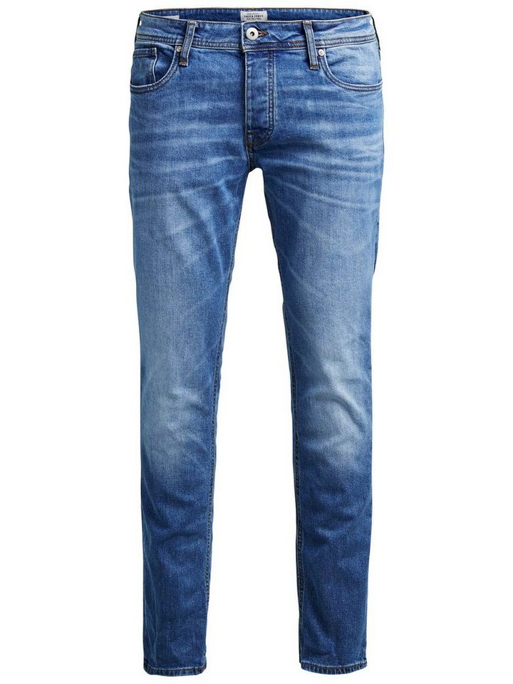 Jack & Jones Tim Original AM 078 Slim Fit Jeans in Blue Denim