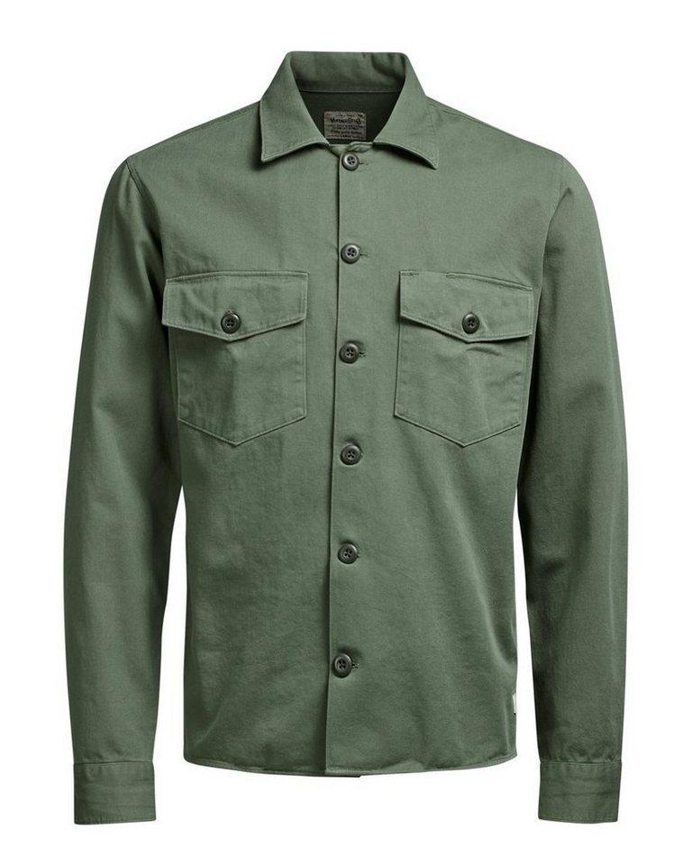 Jack & Jones Shirt- Langarmhemd in Black Olive