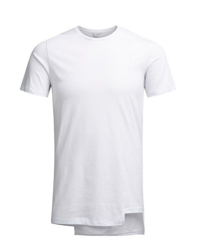 Jack & Jones Lang geschnittenes T-Shirt in White