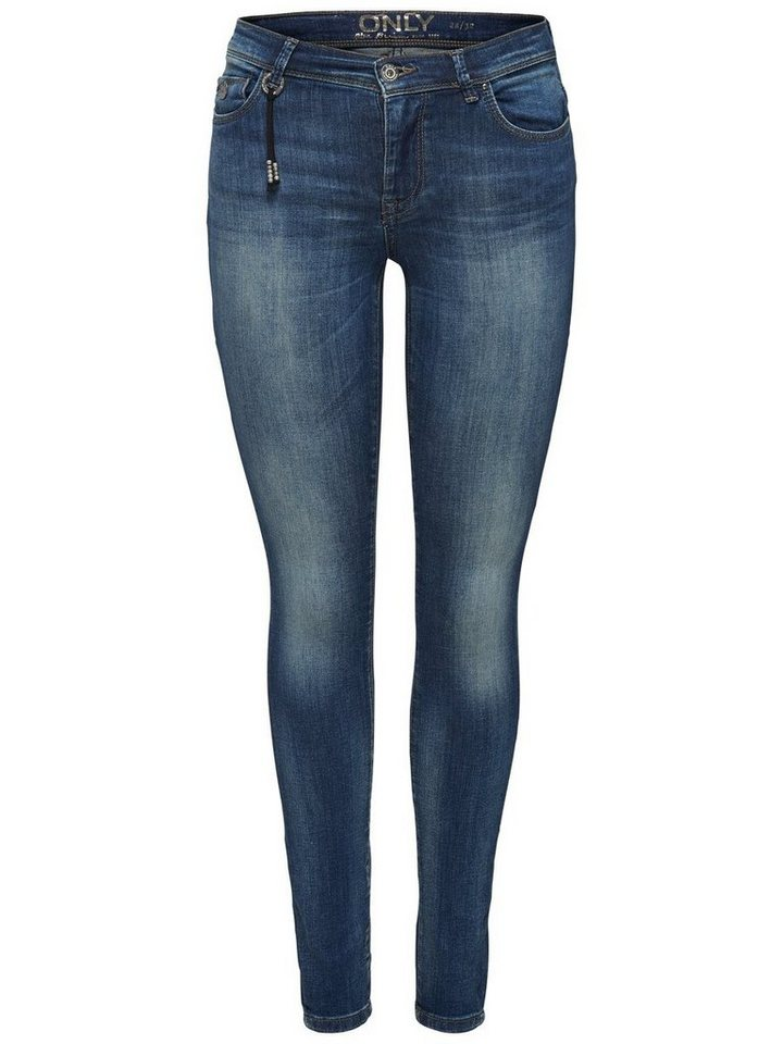 Only Shape reg Skinny Fit Jeans in Medium Blue Denim