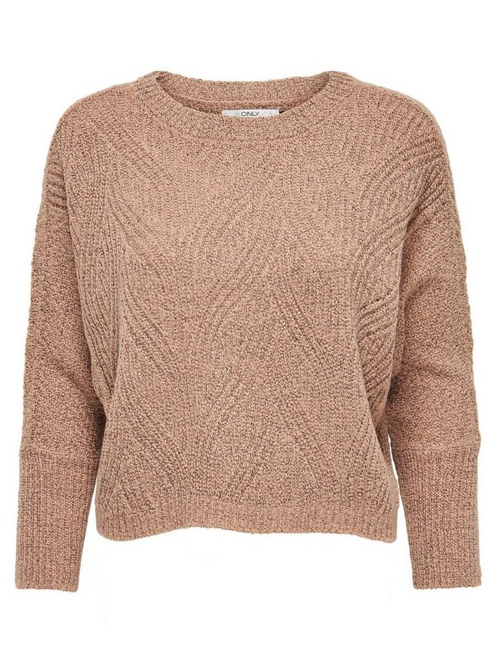 Only Lässiger Strickpullover in Mesa Rose