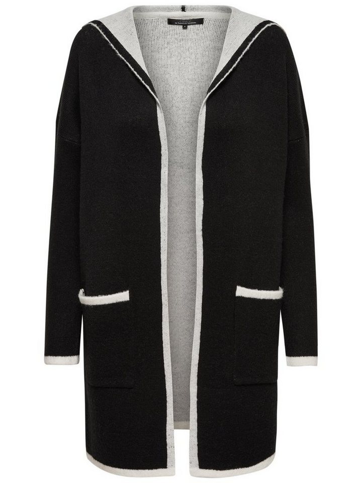 Only Langer Strick-Cardigan in Black