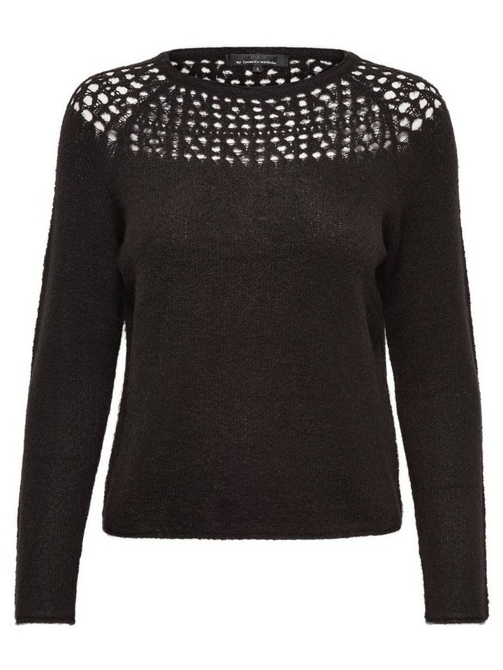 Only Häkel- Strickpullover in Black
