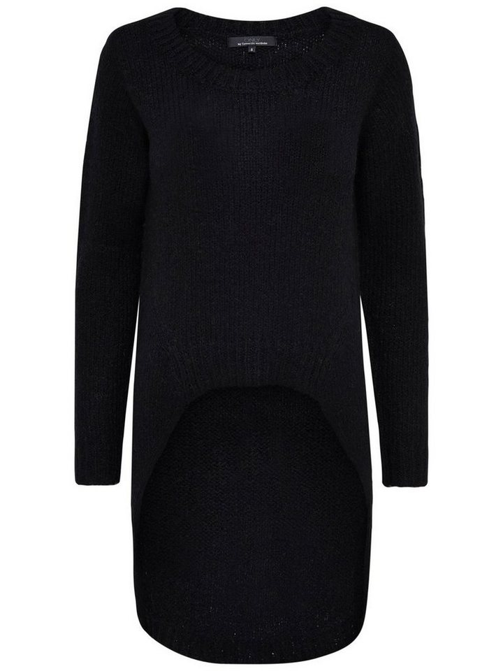Only High-low- Strickpullover in Black