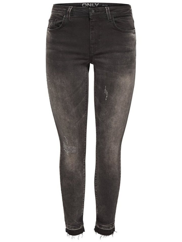 Only Gia reg Ankle Slim Fit Jeans in Black