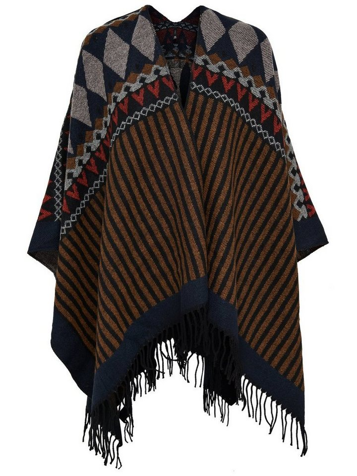Only Detaillierter Poncho in RUBBER