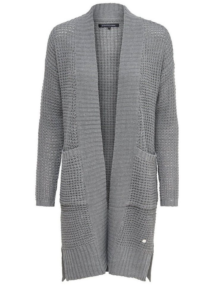 Only Langer Strick-Cardigan in Medium Grey Melange
