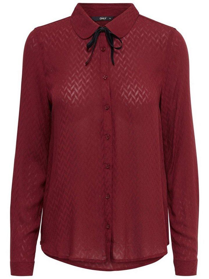 Only Detailliertes Langarmhemd in Syrah