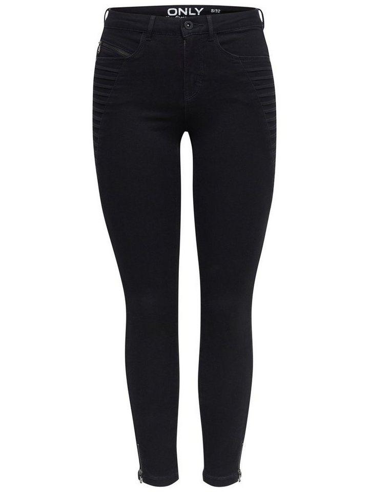 Only Royal reg zip Skinny Fit Jeans in Black