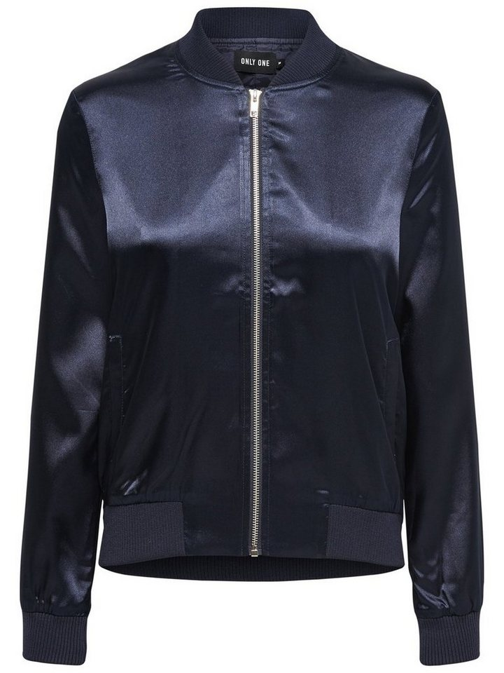 Only Glänzende Bomber- Jacke in DARK BLUE