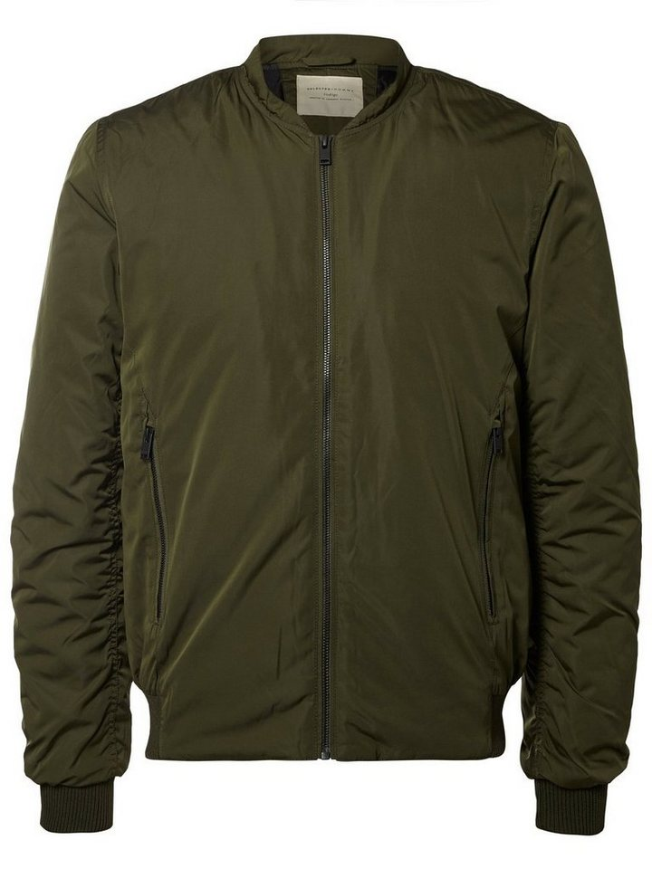 SELECTED Bomber- Jacke in FOREST NIGHT