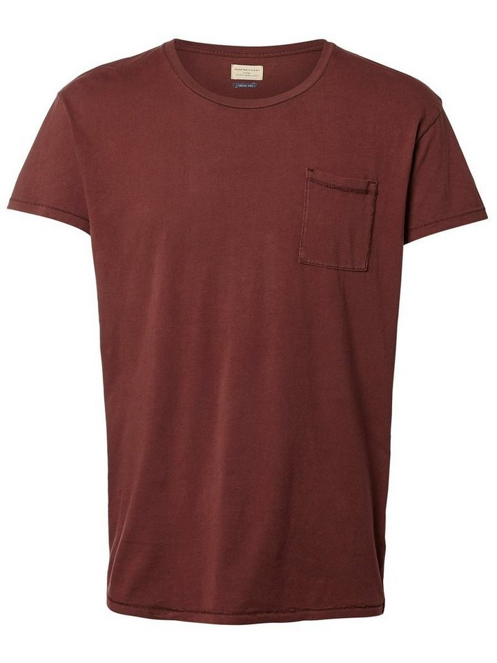 SELECTED Oversized - T-Shirt in Bitter Chocolate