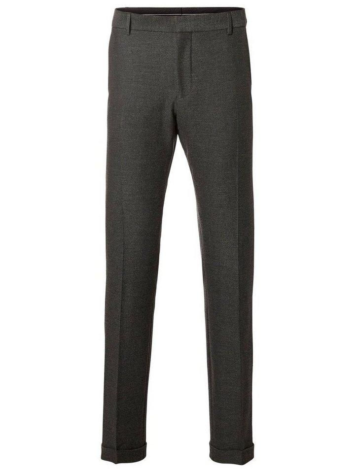 SELECTED Slim-Fit- Anzughose in Medium Grey Melange