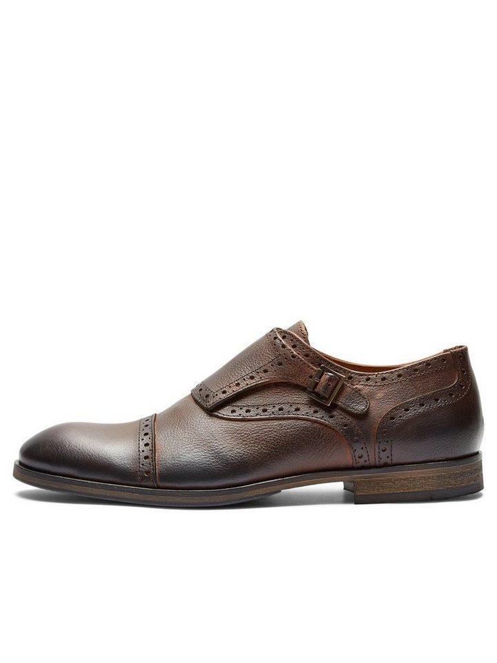 SELECTED Monk- Schuhe in DEMITASSE