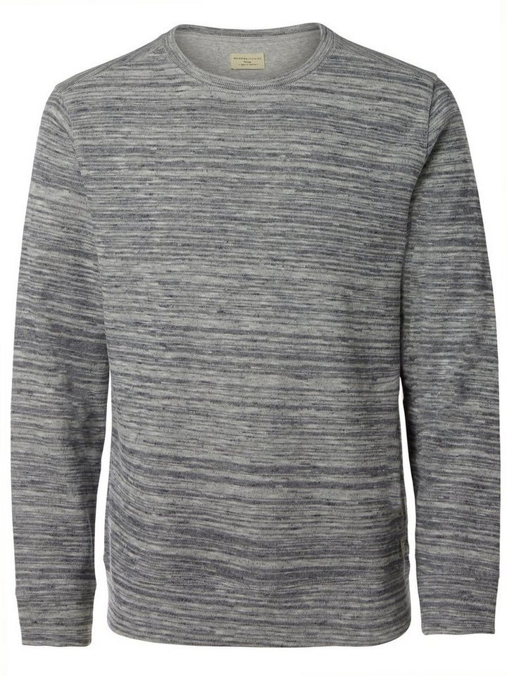SELECTED Crew-Neck- Sweatshirt in GREY MELANGE