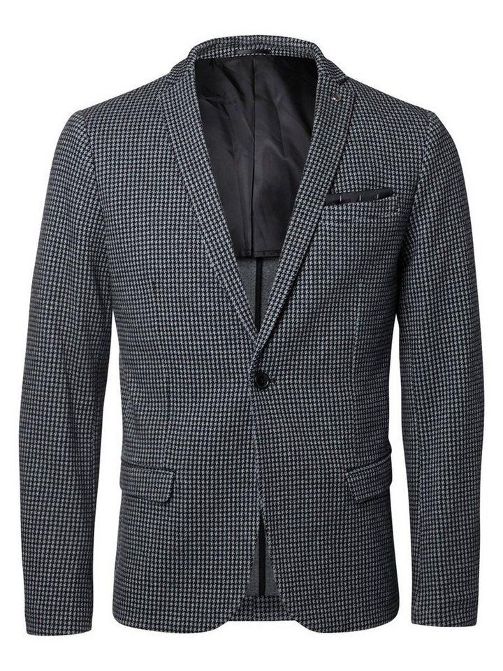 SELECTED Klassischer Blazer in GREY MELANGE