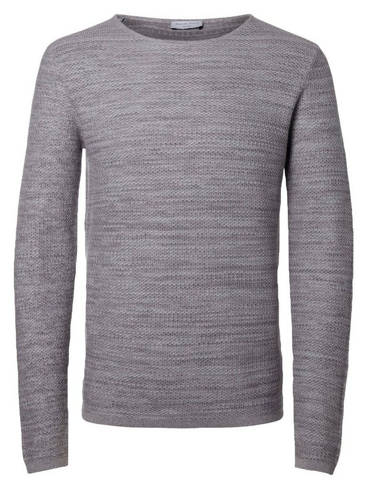 SELECTED Crew-Neck- Strickpullover in GREY.