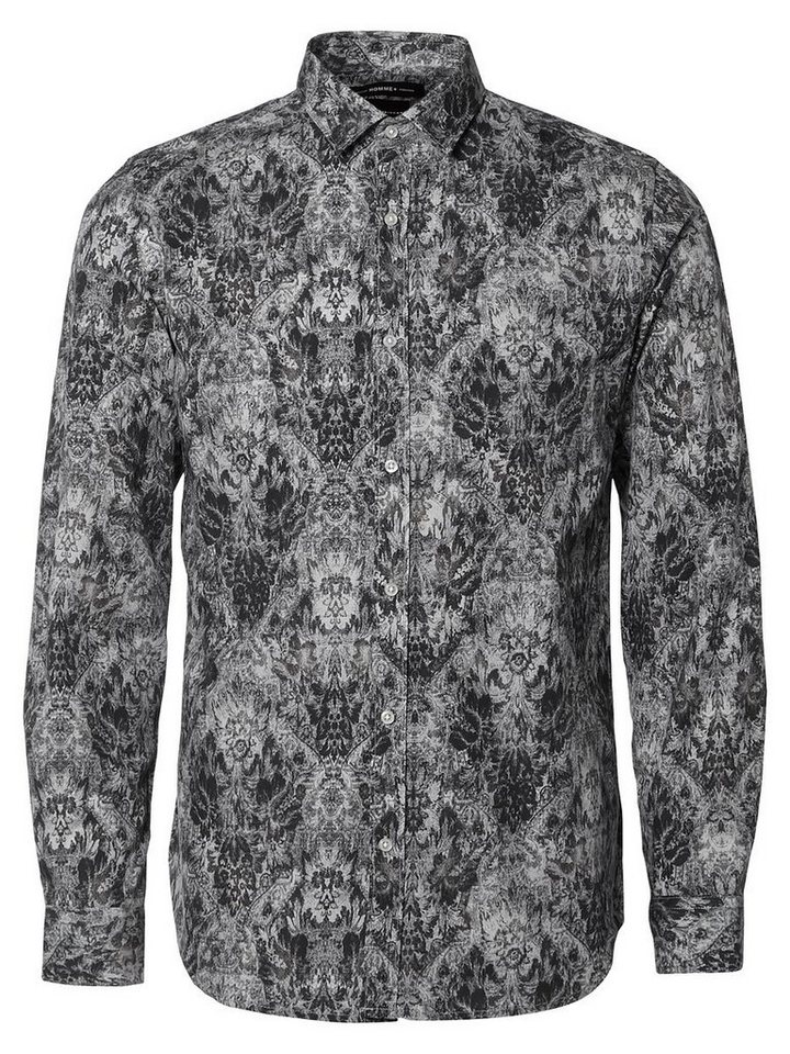 SELECTED Slim fit- Langarmhemd in Light Gray