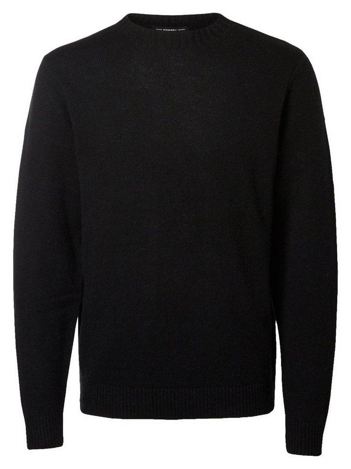SELECTED Crew-Neck- Strickpullover in Black