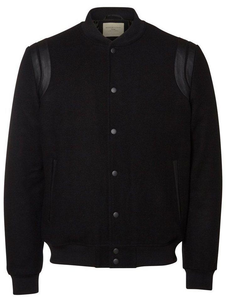 SELECTED Woll- Jacke in Black
