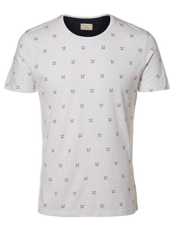 SELECTED Rundausschnitt T-Shirt in White