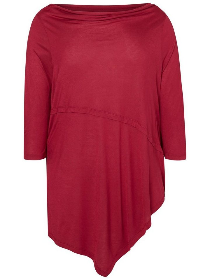 JUNAROSE Lange Bluse in Beet Red