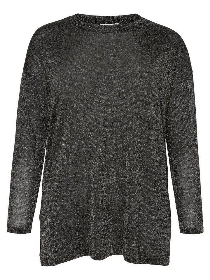 JUNAROSE Langärmeliger Pullover in Black
