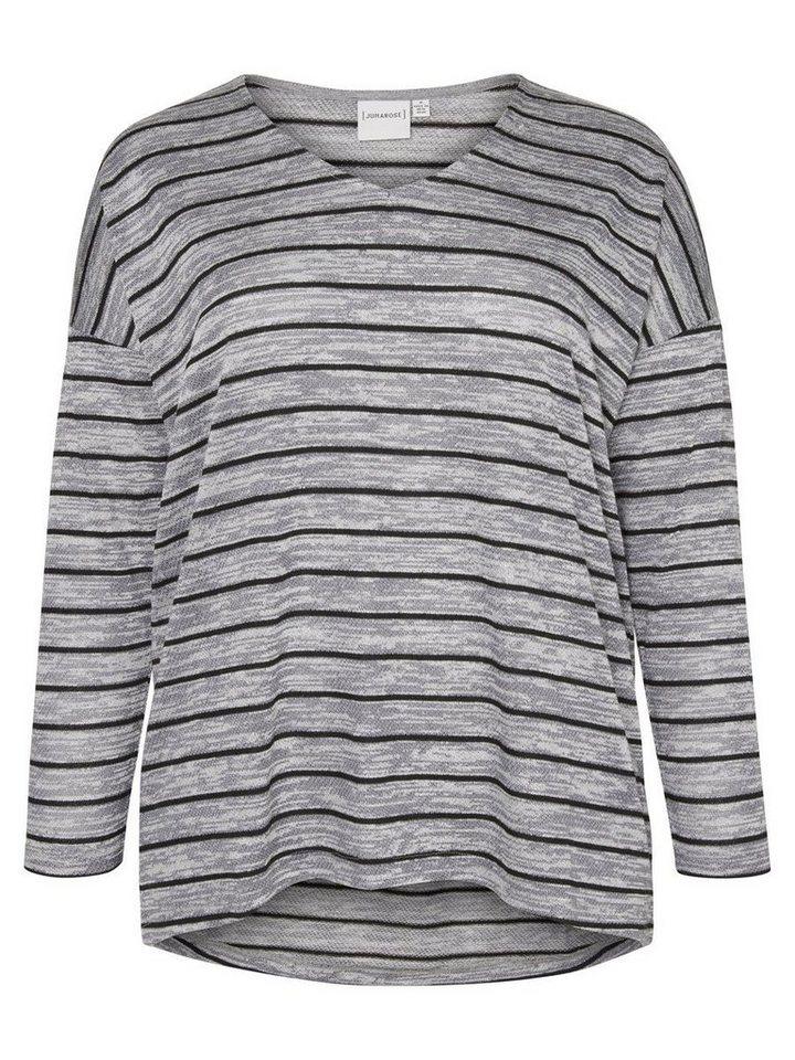 JUNAROSE Bluse in Medium Grey Melange