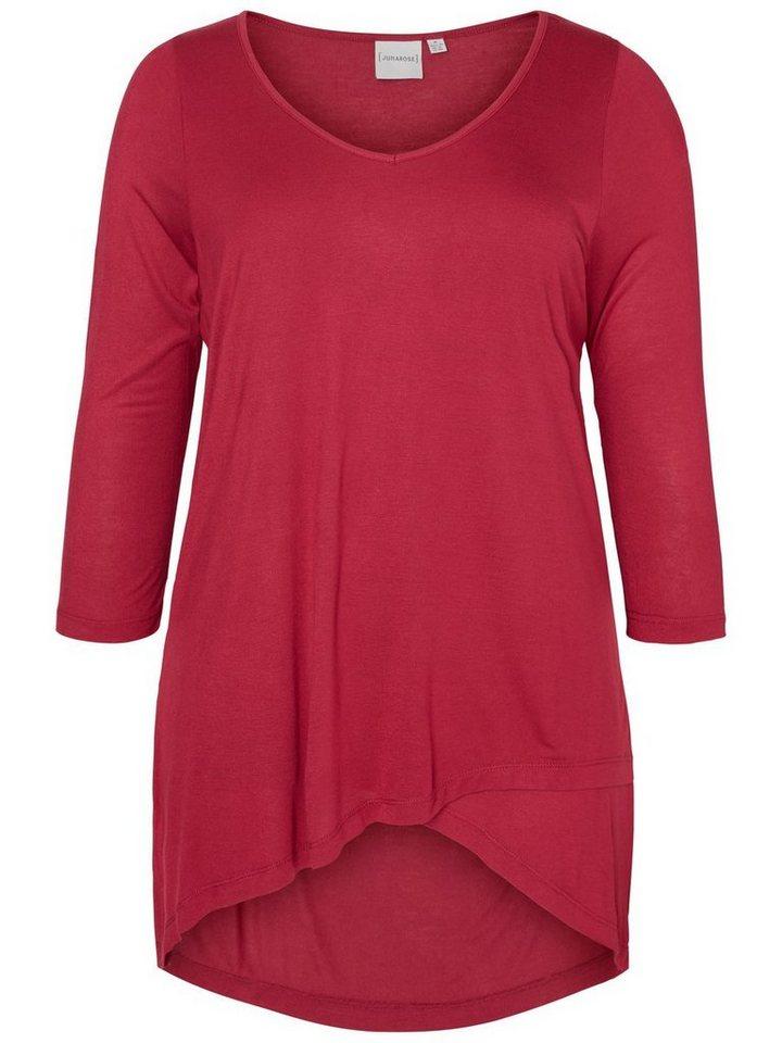 JUNAROSE High-Low Bluse in Beet Red
