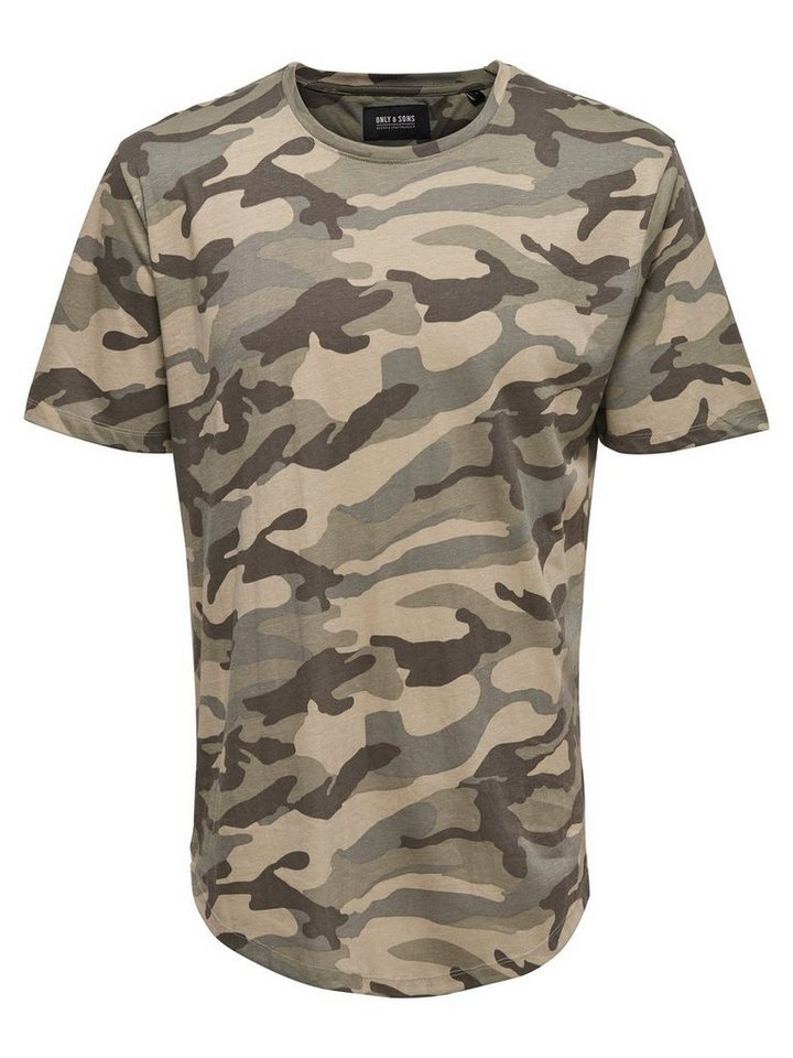 ONLY & SONS Bedrucktes T-Shirt in OLIVE NIGHT